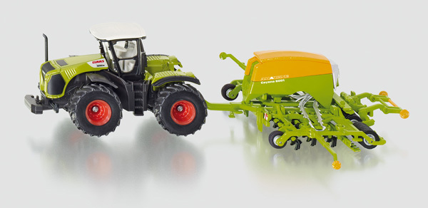 1826 - Claas Tractor with Amazone Seeder