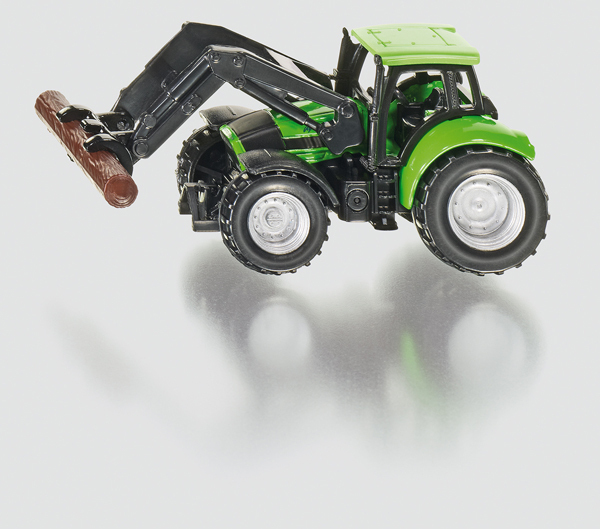 1380 - Deutz Tractor with Pliers for Wood