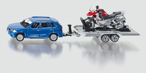 2547 - Car with Trailer & Motorbike