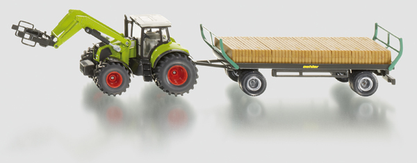 1946 - Claas with Loader & Bale Trailer