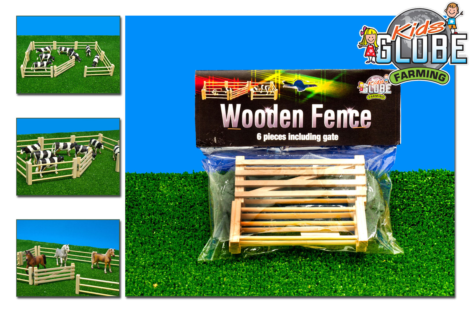 KG0667 - Wooden Fences & Gate Set (6 pack) (1:32)
