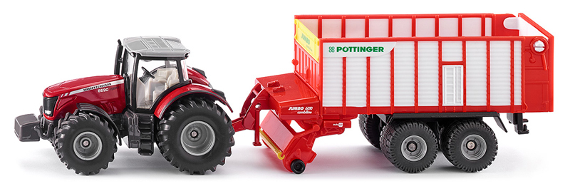 1987 - Massey Ferguson with Pottinger Jumbo (1:50)