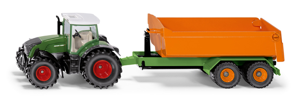1989 - Fendt with Hooklift Trailer & Carriage (1:50)