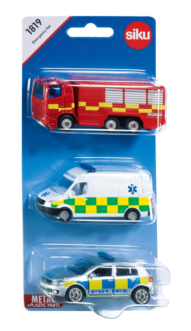 1819 - Emergency Vehicles (3 Pack)